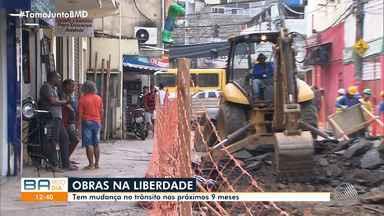 Trânsito no bairro da Liberdade sofre alterações nos próximos nove meses, em Salvador - Algumas ruas, como a do Curuzu, vão ficar bloqueadas por causa das obras de requalificação.
