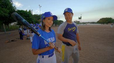 Cris Ikeda aprende a jogar beisebol! - Um esporte ainda desconhecido pelos brasileiros, faz muito sucesso nas colônias japonesas! Cris Ikeda conhece um pouco mais das regras e curiosidades e até se arrisca em um lance!