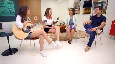 Pedro Leonardo e Cris Ikeda conversam com a dupla Julia e Rafaela - Pedro e Cris recebem Julia e Rafaela, jovens cantoras que embarcaram na onda do 'feminejo', elas conversaram sobre a paixão pela música sertaneja e como foi tocar em rede nacional com as Irmãs Galvão