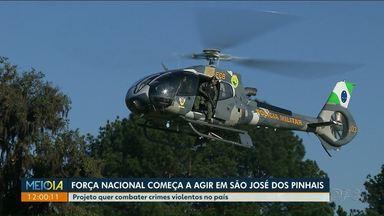 Força Nacional chega a São José dos Pinhais para ajudar no combate a criminalidade - Cidade está entre as mais violetas do País.