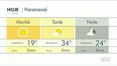 Pode chover no fim de semana no Noroeste - Moradores de Umuarama estão até rezando pra chover.
