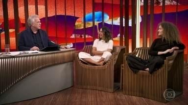 """Anavitória fala sobre o filme """"Ana e Vitória"""" - Bial comenta sobre o filme estrelado pelo duo e questionou o quanto o filme é autobiográfico"""