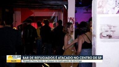 Bar conhecido por abrigar refugiados é atacado no Centro de São Paulo - Caso aconteceu na madrugada deste domingo (1) e houve reclamação da PM não atender ao chamado.