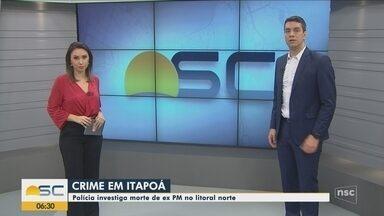 Giro de notícias: Corpo de homem é encontrado com marcas de tiro em Itapoá - Giro de notícias: Corpo de homem é encontrado com marcas de tiro em Itapoá