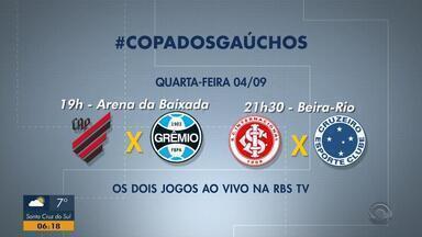 Veja como serão os jogos de quarta-feira (4) pela Copa do Brasil - Inter e Grêmio disputam vaga para a final da competição.