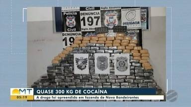 Forças policiais apreendem quase 300 quilos de cocaína em Nova Bandeirantes - Forças policiais apreendem quase 300 quilos de cocaína em Nova Bandeirantes