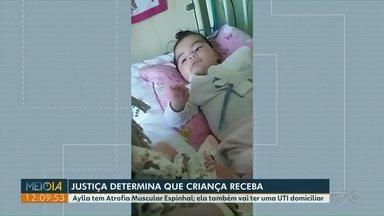 Justiça determina que criança com doença rara receba medicamento e UTI domiciliar - Aylla acabou de completar seis meses de vida.
