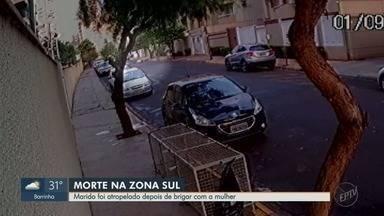 Homem é atropelado pela mulher após briga e morre na zona Sul de Ribeirão Preto, SP - Acidente aconteceu no bairro Nova Aliança. Mulher irá responder por homicídio culposo.