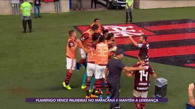 Flamengo vence Palmeiras no Maracanã e mantém a liderança - Flamengo vence Palmeiras no Maracanã e mantém a liderança