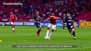 Nico volta a marcar e Inter vence o Botafogo no Beira-Rio - Assista ao vídeo.