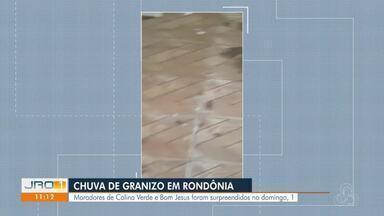 População de Colina Verde é surpreendida com chuva de granizo no domingo - População de Colina Verde é surpreendida com chuva de granizo no domingo