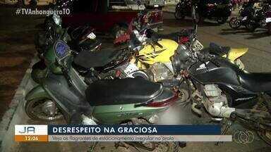 Uso incorreto dos estacionamentos da praia da Graciosa irritam motoristas em Palmas - Uso incorreto dos estacionamentos da praia da Graciosa irritam motoristas em Palmas