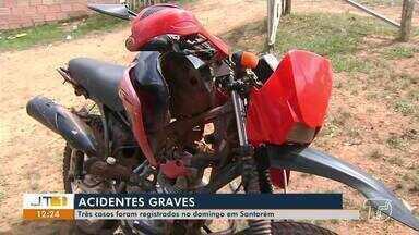 Três acidentes de trânsito graves são registrados no domingo, em Santarém - Dois homens, vítimas das batidas, morreram. Delegacia de Homicídios investiga os casos.