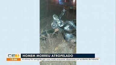 Homem morre atropelado enquanto observava um acidente de trânsito em Várzea Alegre - Confira mais notícias em g1.globo.com/ce