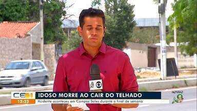 Idoso morre ao cair do telhado em Campos Sales - Confira mais notícias em g1.globo.com/ce
