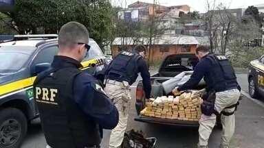 Polícia apreende 100 kg de maconha em Farroupilha - Droga foi apreendida durante abordagem neste domingo (01).
