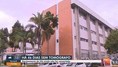 Tomógrafo está há mais de 40 dias sem funcionar em hospital de Florianópolis - Equipamento de tomógrafo está há mais de 40 dias sem funcionar em hospital de Florianópolis