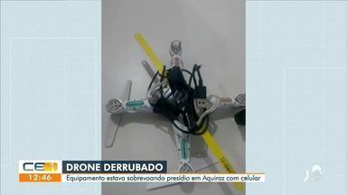 Agentes derrubam drone que sobrevoava presídio em Aquiraz - Confira mais notícias em g1.globo.com/ce