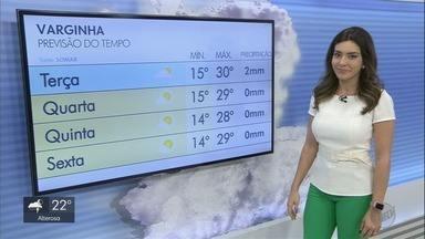 Confira a previsão do tempo para esta terça-feira (3) no Sul de Minas - Confira a previsão do tempo para esta terça-feira (3) no Sul de Minas