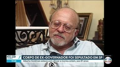 Ex-governador Alberto Goldman é sepultado nesta segunda-feira (2) - Político tinha 81 anos e lutava contra um câncer.
