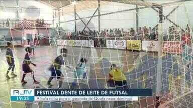 Festival Dente de Leite de Futsal: bola rolou em Quatis e Vassouras no fim de semana - Crianças se divertiram em quadra nas duas cidades.