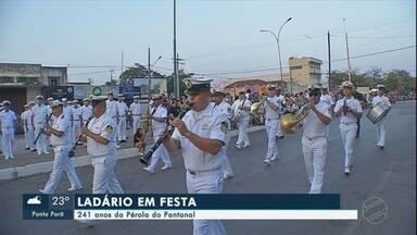 """Ladário comemora 241 anos - A cidade conhecida como """"A Pérola do Pantanal"""" está em festa nesta segunda-feira. Desfiles estão previstos na comemoração."""