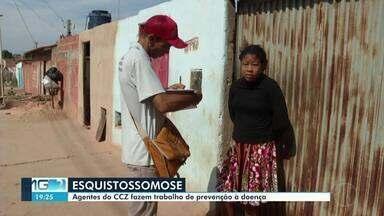 CCZ realiza trabalho de conscientização contra esquistossomose em Montes Claros - Doença é provocada por um verme e tem crescido na cidade.