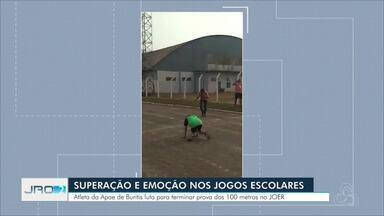 Jogos Escolares Paralímpico termina em Vilhena e vídeo de paratleta viraliza - Imagens de uma paratleta lutando para terminar uma prova viralizaram e emocionaram muita gente em Vilhena