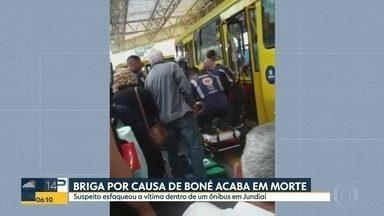 Briga por causa de boné acaba em morte - Suspeito esfaqueou a vítima dentro de um ônibus em Jundiaí.