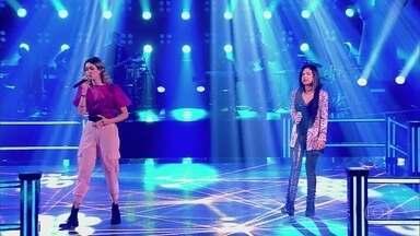 """Flora Cruz e Luana Lima cantam """"Lanterna Dos Afogados"""" - Flora vence batalha e Luana deixa o programa"""