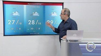 Confira previsão do tempo para esta quarta-feira - Tempo amanheceu chuvoso na região.