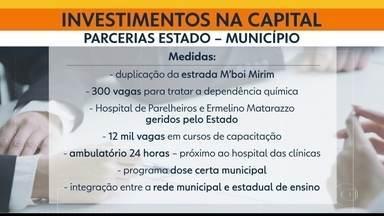 Investimentos na capital - Doria e Covas anunciaram parcerias de R$ 550 milhões para a cidade