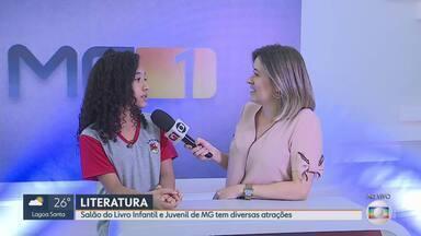 Belo Horizonte recebe o Salão do Livro Infantil e Juvenil de Minas até o próximo domingo - Na exposição, é possível brincar de apresentador da Globo em um stand especial.