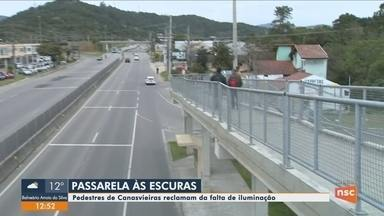 Governo e Prefeitura de Florianópolis debatem iluminação de passarela - Governo e Prefeitura de Florianópolis debatem iluminação de passarela