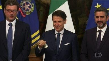 Itália tem novo governo - Primeiro-ministro Giuseppe Conte anunciou o novo gabinete nesta quinta-feira