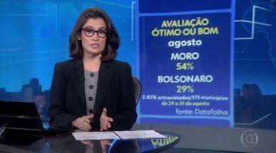 Ministro Sergio Moro tem a melhor avaliação do governo, diz Datafolha - Segundo pesquisa, 54% dos entrevistados consideram a gestão dele ótima ou boa. A aprovação do governo do presidente Jair Bolsonaro é de 29%.