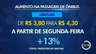 Passagem em Ubatuba vai ficar mais cara a partir de segunda-feira - Tarifa vai para R$ 4,30.