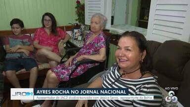 Ayres Rocha no Jornal Nacional - Apresentador do JAC2, no Acre, foi o primeiro jornalista da Rede Amazônica a aparecer no telejornal no projeto JN 50 anos.