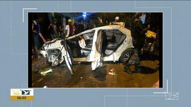 Acidente de trânsito deixa quatro mortos e cinco feridos em São Luís - Acidente aconteceu na madrugada de domingo (8) e o motorista do veículo estava com sintomas de embriaguez e foi preso em flagrante.