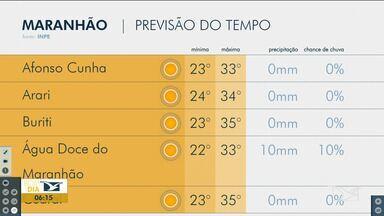 Veja as variações das temperaturas no Maranhão - Confira a previsão do tempo nesta segunda-feira (9) em São Luís e também no interior do estado.