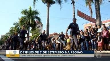Fim de semana foi marcado por desfile do Dia da Independência - Várias cidades tiveram apresentações no último sábado (7).