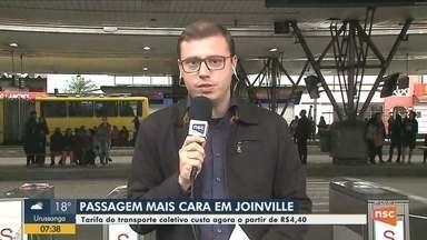 Passagem de ônibus em Joinville tem aumento a partir desta segunda-feira (9) - Passagem de ônibus em Joinville tem aumento a partir desta segunda-feira (9)