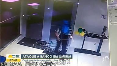 Vídeo mostra o momento em que bandidos invadem banco em Umirim - Saiba mais em g1.com.br/ce