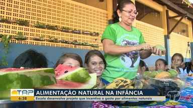 Projeto em escola de Santarém incentiva o gosto por alimentos naturais na infância - Alimentação saudável na infância ajuda no melhor desenvolvimento da criança.