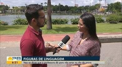 Lá Vem o Enem; veja dicas para não errar as figuras de linguagem - Confira os detalhes com o repórter Ítalo Di Lucena.