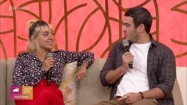 Valentina Bandeira e Marcos Veras falam sobre seus trabalhos - Marcos Veras diz que fazer parte da Escolinha é a realização de um sonho