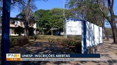Começa o prazo de inscrições para o vestibular da Unesp - Há vagas nos três campi do Oeste Paulista.