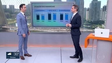 Níveis dos principais reservatórios da Grande SP caíram desde o início do inverno - Cantareira está, hoje (9), com 49,9% da capacidade