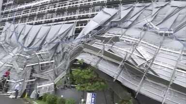 Tufões provocam morte e destruição na Ásia - Tufão Faxai deixou dois mortos e 61 feridos na região de Tóquio. Tufão Lingling causou oito mortes e muitos estragos na península coreana.