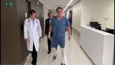 Bolsonaro se recupera da cirurgia para a correção de uma hérnia - O presidente deve ficar internado pelo menos até o fim de semana.